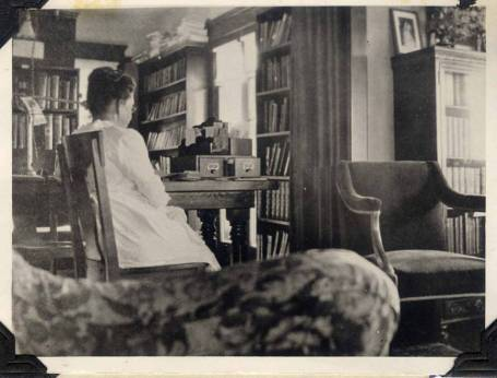 Mrs. Isabel Henderson, first librarian in Torrance